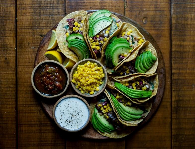 Tortilla Wraps-Avocado-Dips