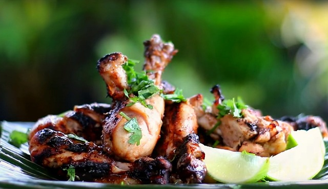 Huhn-grillen-Geflügel